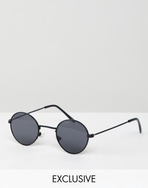 Черные круглые солнцезащитные очки inspired Reclaimed Vintage. Цвет: черный