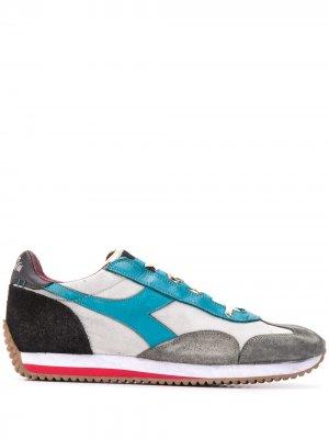 Кроссовки в стиле колор-блок Diadora. Цвет: синий