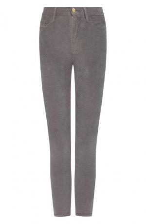 Вельветовые брюки Frame Denim. Цвет: серый