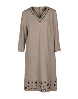 Короткое платье 22 MAGGIO by MARIA GRAZIA SEVERI. Цвет: голубиный серый