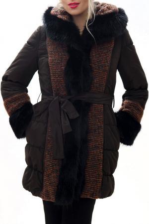 Пальто RADEKS. Цвет: коричневый