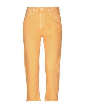 Джинсовые брюки-капри HAIKURE. Цвет: оранжевый