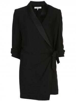 Короткое платье с запахом FRAME. Цвет: черный