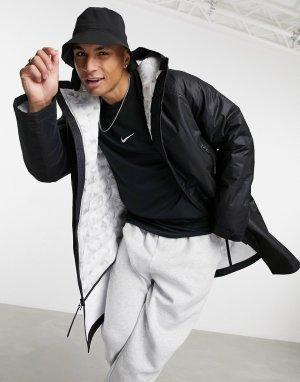 Черная куртка-парка с синтетическим наполнителем Tech Pack rmore-Черный цвет Nike