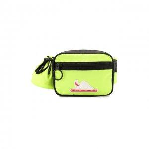 Текстильная поясная сумка Off-White. Цвет: жёлтый