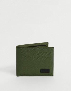 Бумажник цвета хаки -Зеленый цвет Consigned