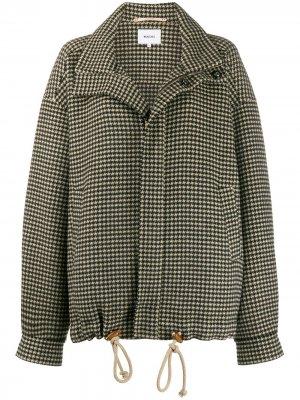 Куртка-бомбер в ломаную клетку Nanushka. Цвет: черный