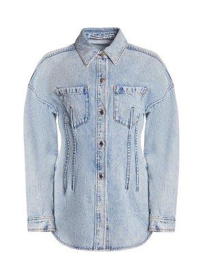 Джинсовая куртка ALEXANDER WANG. Цвет: голубой