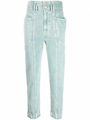 Зауженные джинсы с завышенной талией Isabel Marant Étoile. Цвет: зеленый