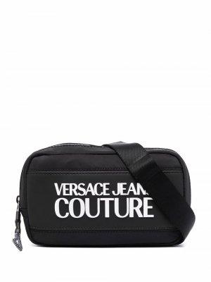 Logo patch belt bag Versace Jeans Couture. Цвет: черный
