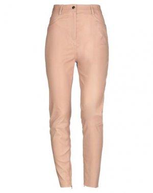 Повседневные брюки JITROIS. Цвет: телесный