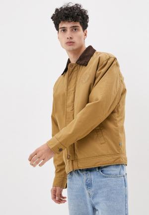Куртка утепленная Quiksilver. Цвет: коричневый