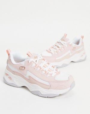 Светло-розовые кроссовки DLites 4.0-Розовый цвет Skechers
