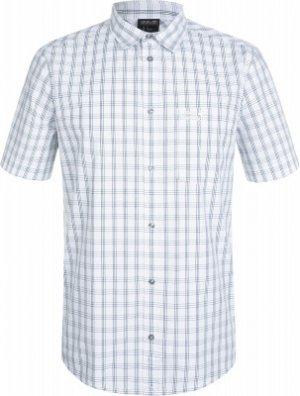 Рубашка с коротким рукавом мужская Jack Wolfskin Hot Springs, размер 46-48. Цвет: белый