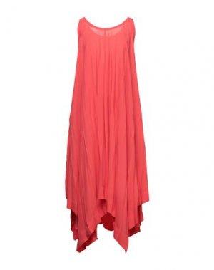 Платье до колена ISSEY MIYAKE. Цвет: коралловый