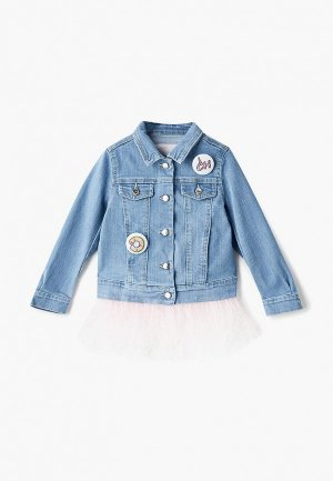 Куртка джинсовая Choupette. Цвет: голубой