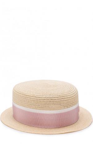 Соломенная шляпа Auguste с лентой Maison Michel. Цвет: бежевый