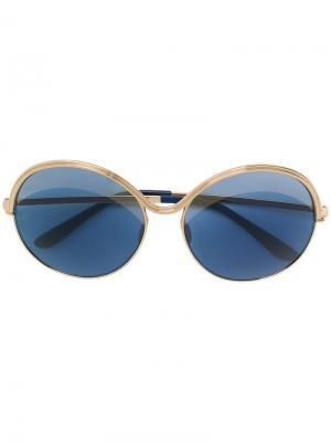 Массивные солнцезащитные очки Elie Saab