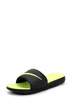 Сланцы Nike Benassi Solarsoft Slide. Цвет: черный