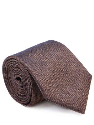 Галстук шелковый CANALI. Цвет: коричневый