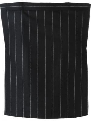 Короткая юбка в полоску Aquilano.Rimondi. Цвет: чёрный