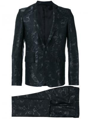 Жаккардовый костюм Les Hommes. Цвет: чёрный