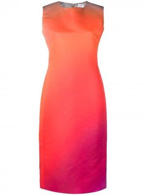 Платье-футляр с эффектом омбре LANVIN. Цвет: желтый