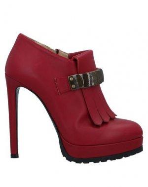 Ботинки VICINI. Цвет: красно-коричневый