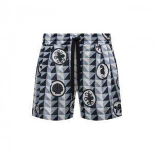 Хлопковые шорты Dolce & Gabbana. Цвет: голубой