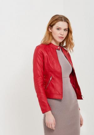 Куртка кожаная Z-Design ZD002EWATPX0. Цвет: красный