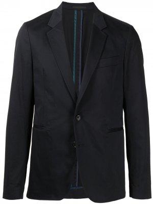 Однобортный пиджак PS Paul Smith. Цвет: синий