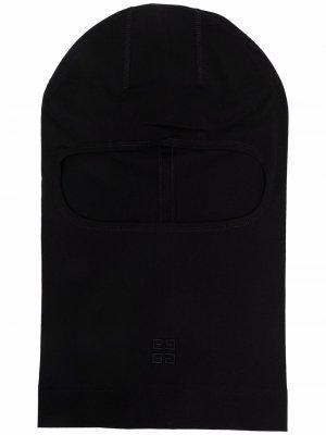 Балаклава с вышитым логотипом 4G Givenchy. Цвет: черный