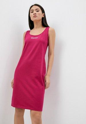 Платье DKNY SPORT. Цвет: розовый