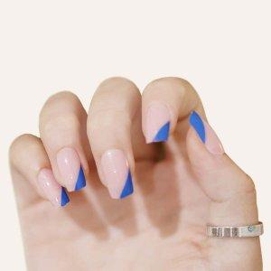 24шт Накладные ногти & 1 лист лента 1шт пилочка для ногтей SHEIN. Цвет: розовые