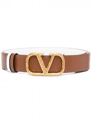 Ремень VLogo Signature Valentino Garavani. Цвет: коричневый