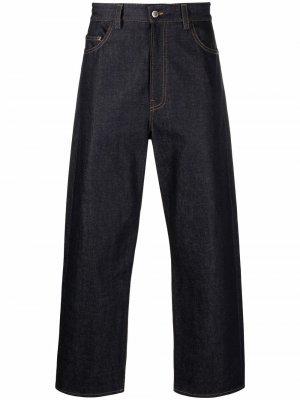 Широкие джинсы прямого кроя Sunnei. Цвет: синий