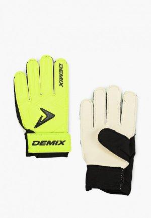 Перчатки вратарские Demix. Цвет: зеленый
