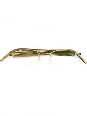 Оптические очки в овальной оправе Lindberg. Цвет: зелёный