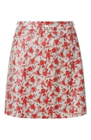 Кожаная юбка DROMe. Цвет: разноцветный