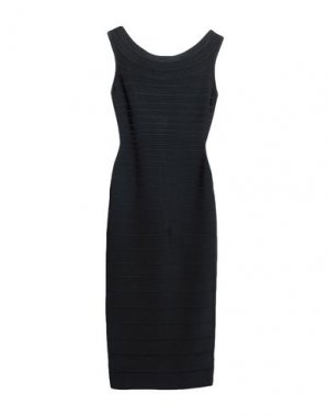 Платье до колена HERVÉ LÉGER. Цвет: черный