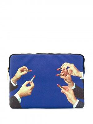 Чехол для ноутбука Seletti. Цвет: синий