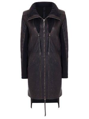 Куртка кожаная удлиненная ILARIA NISTRI