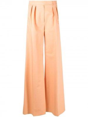 Широкие брюки Max Mara. Цвет: оранжевый