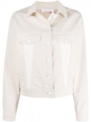Джинсовая куртка с логотипом See by Chloé. Цвет: белый