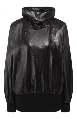 Кожаный бомбер Givenchy. Цвет: черный