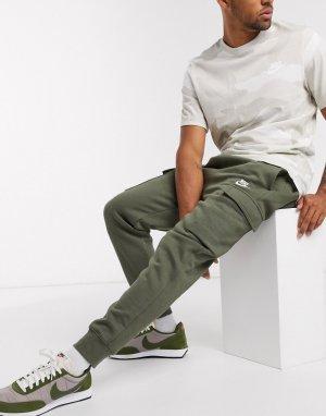 Джоггеры-карго цвета хаки Club-Зеленый Nike