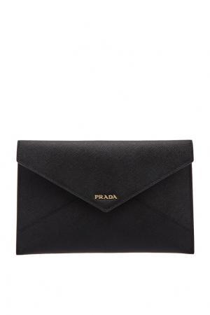 Черный чехол для документов Prada
