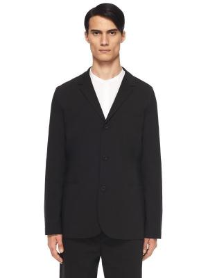 Костюмный пиджак HELMUT LANG. Цвет: черный