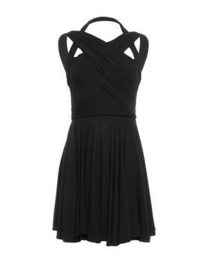 Короткое платье PLEIN SUD. Цвет: черный