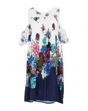 Короткое платье CANNELLA. Цвет: слоновая кость